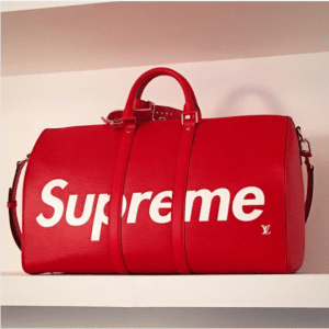 Supreme x Louis Vuitton Red Epi Keepall Bag 3