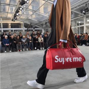 Supreme x Louis Vuitton Red Epi Keepall Bag