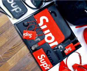 Supreme x Louis Vuitton Red and Black Small Leather Goods