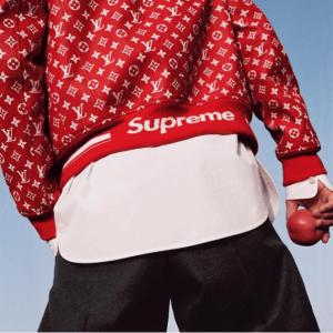 Supreme x Louis Vuitton Red/White Monogram Jacket