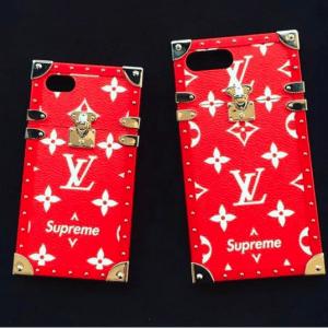 Supreme x Louis Vuitton Red/White Monogram iPhone Case 2