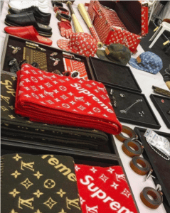 Supreme x Louis Vuitton Scarves and Accessories