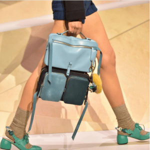 Anya Hindmarch Blue Multicolor Stack Backpack Bag - Fall 2017
