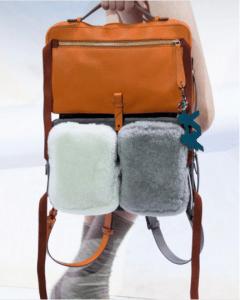 Anya Hindmarch Tan Multicolor Stack Backpack Bag - Fall 2017