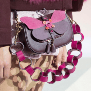 Anya Hindmarch Violet Butterfly Mini Vere Satchel Bag - Fall 2017