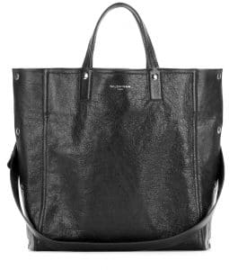 Balenciaga Black Papier Snap Simple Tote Bag