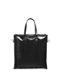 Balenciaga Black Patent Bazar Shopper S Tote Bag