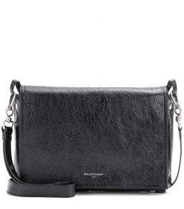 Balenciaga Black Profond Papier Snap Clutch Bag