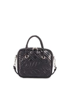 Balenciaga Black Quilted Small Blanket Square Tote Bag
