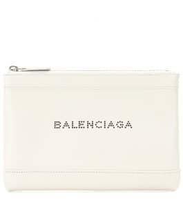 Balenciaga Blanc Navy Clip Small Pochette Bag