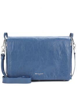 Balenciaga Bleu Profond Papier Snap Clutch Bag