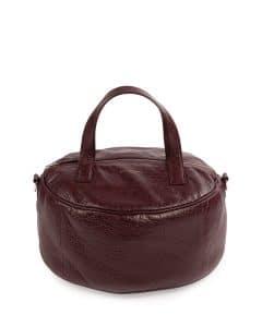 Balenciaga Burgundy Small Air Hobo Top Handle Bag