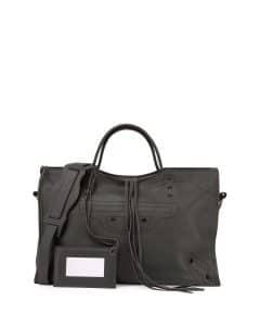 Balenciaga Dark Gray Blackout Small City Bag