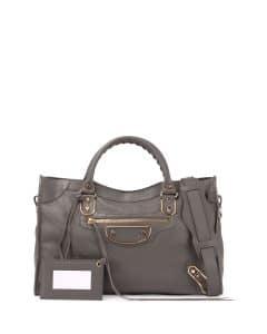Balenciaga Dark Gray Metallic Edge Classic City Bag