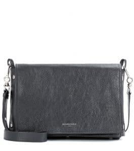 Balenciaga Gris Fossile Papier Snap Clutch Bag