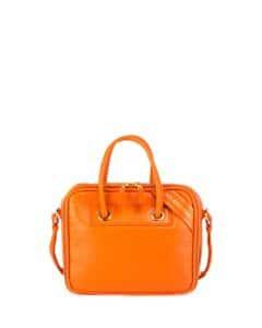 Balenciaga Orange Small Blanket Square Bag