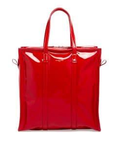 Balenciaga Red Patent Bazar Shopper XS Tote Bag