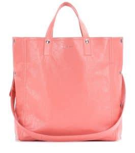 Balenciaga Rose Camelia Papier Snap Simple Tote Bag