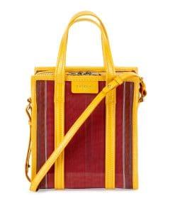 Balenciaga Yellow/Red Mesh Bazar Shopper XS Tote Bag