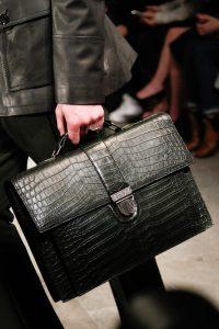 Bottega Veneta Black Crocodile Briefcase Bag - Fall 2017