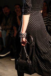 Bottega Veneta Black Crocodile Shoulder Bag - Fall 2017