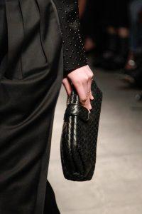 Bottega Veneta Black Intrecciato Lauren Clutch Bag - Fall 2017