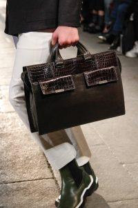 Bottega Veneta Black Leather/Crocodile Briefcase Bag - Fall 2017