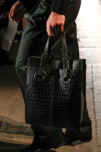 Bottega Veneta Black Leather/Crocodile Tote Bag - Fall 2017
