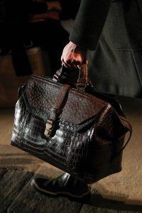 Bottega Veneta Black/Brown Crocodile/Ostrich Top Handle Bag - Fall 2017