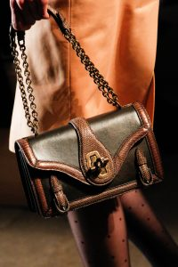 Bottega Veneta Black/Brown Leather/Python Mini Flap Bag - Fall 2017