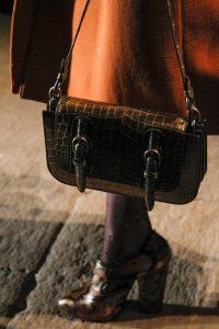 Bottega Veneta Brown Croocodile Shoulder Bag - Fall 2017