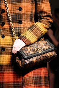 Bottega Veneta Brown/Black Intrecciato Mini Flap Bag - Fall 2017