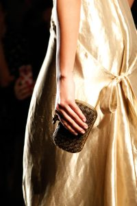 Bottega Veneta Gold Knot Clutch Bag - Fall 2017