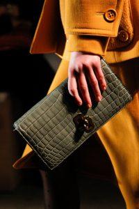 Bottega Veneta Gray Crocodile Clutch Bag - Fall 2017