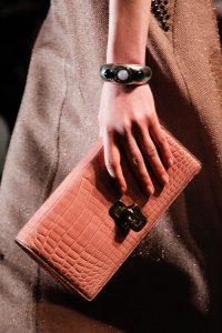 Bottega Veneta Pink Crocodile Clutch Bag - Fall 2017