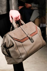 Bottega Veneta Taupe Leather:Ostrich Top Handle Bag - Fall 2017