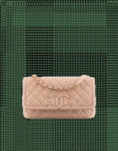 Chanel Beige CC Filigree Flap Medium Bag