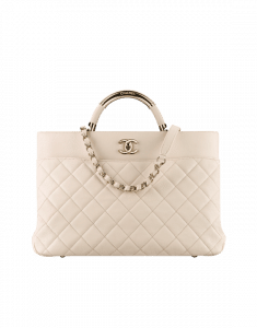 Chanel Beige Carry Chic Large Shopping Bag