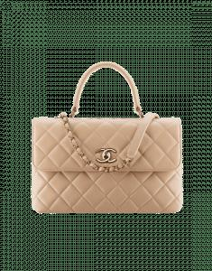Chanel Beige Medium Trendy CC Top Handle Bag