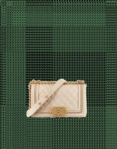 Chanel Beige Small Boy Chanel Jacket Flap Bag