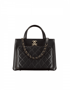 Chanel Black Business Affinity Small Shopping Bag