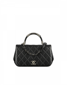 Chanel Black Carry Chic Small Top Handle Bag