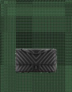 Chanel Black Chevron 2.55 Reissue Size 225 Bag
