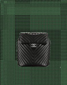 Chanel Black Chevron Urban Spirit Small Backpack Bag
