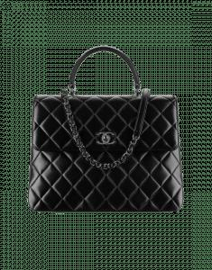 Chanel Black Large Trendy CC Top Handle Bag