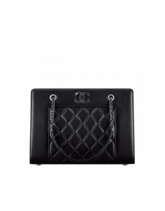 Chanel Black Mademoiselle Vintage Small Shopping Bag