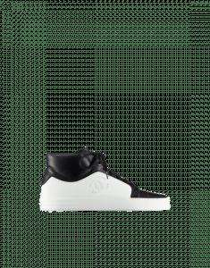 Chanel Black/White Calfskin High Cut Sneakers