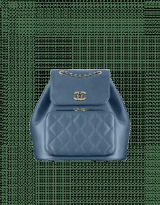 Chanel Blue Business Affinity Backpack Bag