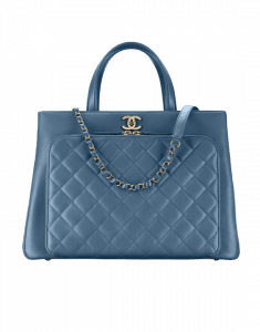 Chanel Blue Business Affinity Large Shopping Bag