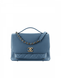 Chanel Blue Business Affinity Large Top Handle Bag
